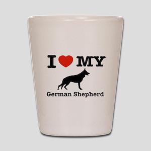 I love my German Shepherd Shot Glass