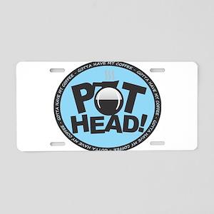 Pothead - Blue Aluminum License Plate