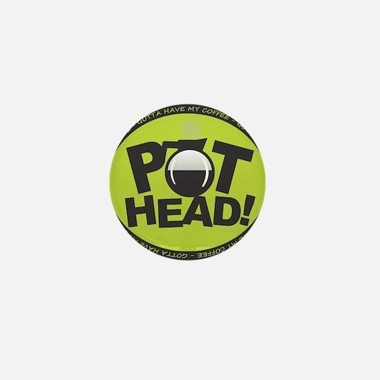 Pothead - Green Mini Button