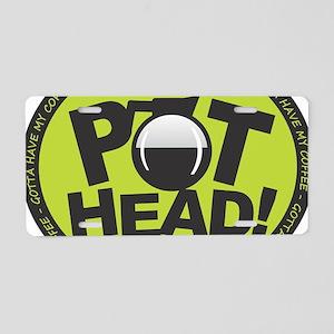 Pothead - Green Aluminum License Plate