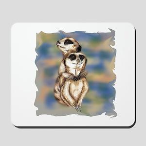 meerkat hugs Mousepad