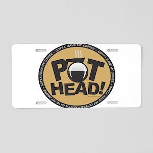 Pothead Gold Aluminum License Plate