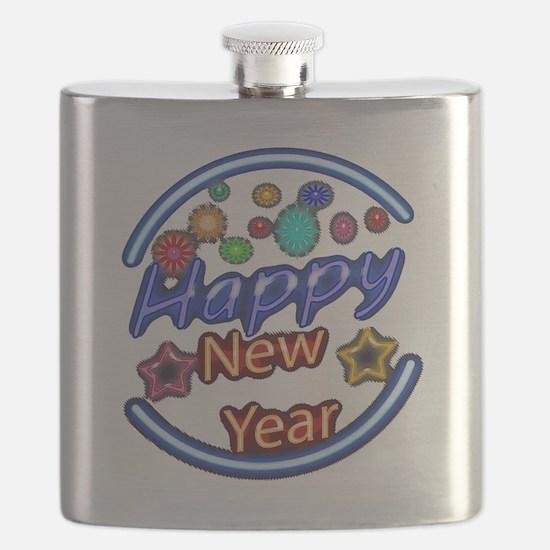 Happy New Year Neon Flask