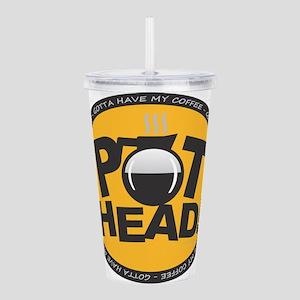 Pothead - Peach Acrylic Double-wall Tumbler