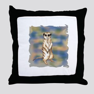 meerkat solo Throw Pillow