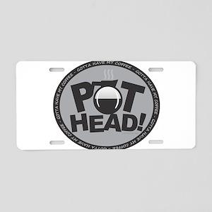 Pothead Gray Aluminum License Plate