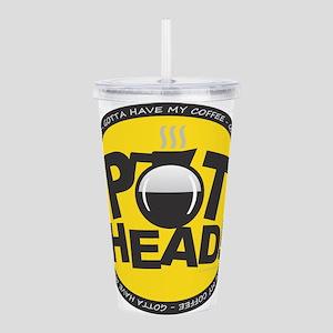 Pothead Yellow Acrylic Double-wall Tumbler