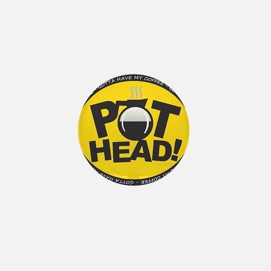 Pothead Yellow Mini Button