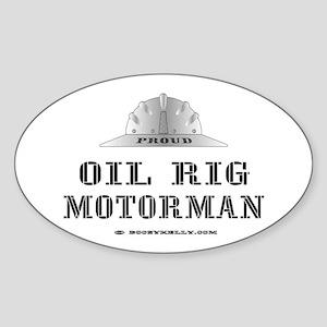 Motorman Oval Sticker