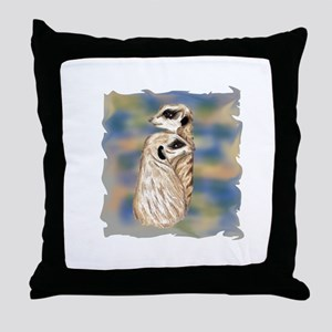 meerkat couple Throw Pillow