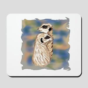 meerkat couple Mousepad