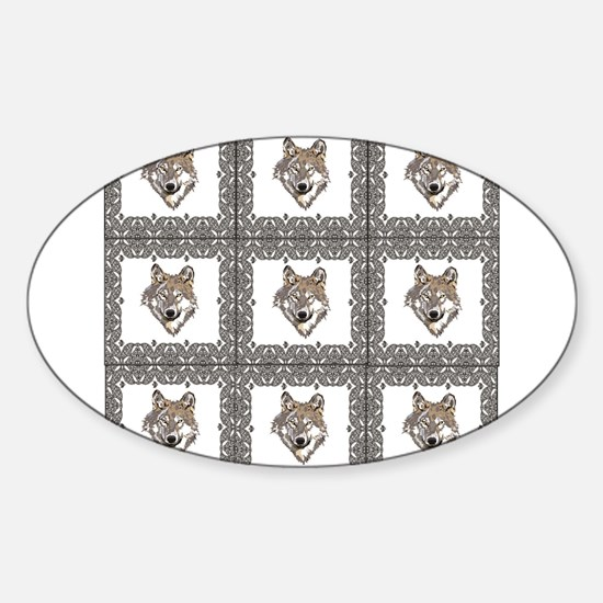 wolf pack block Decal