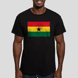Flag of Ghana Men's Fitted T-Shirt (dark)