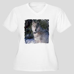 Wolf Women's Plus Size V-Neck T-Shirt
