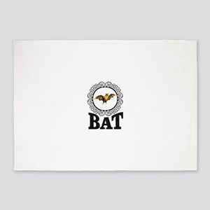bat attack logo 5'x7'Area Rug