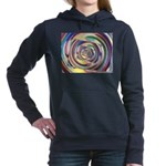 Spinning Colors Abstract Women's Hooded Sweatshirt