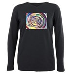 Spinning Colors Abstract Plus Size Long Sleeve Tee
