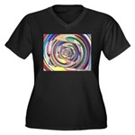 Spinning Colors Abstract Plus Size T-Shirt