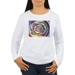 Spinning Colors Abstract Long Sleeve T-Shirt