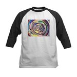 Spinning Colors Abstract Baseball Jersey
