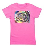 Spinning Colors Abstract Girl's Tee