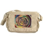 Spinning Colors Abstract Messenger Bag