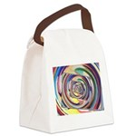 Spinning Colors Abstract Canvas Lunch Bag