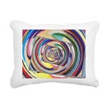 Spinning Colors Abstract Rectangular Canvas Pillow