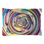 Spinning Colors Abstract Pillow Case
