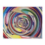 Spinning Colors Abstract Throw Blanket