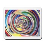 Spinning Colors Abstract Mousepad