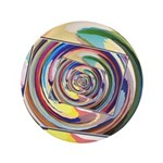 Spinning Colors Abstract Button