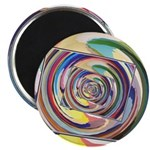 Spinning Colors Abstract Magnets