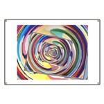 Spinning Colors Abstract Banner
