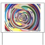 Spinning Colors Abstract Yard Sign