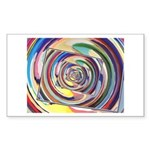 Spinning Colors Abstract Sticker