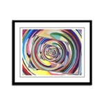 Spinning Colors Abstract Framed Panel Print