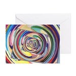 Spinning Colors Abstract Greeting Cards