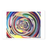 Spinning Colors Abstract Postcards (Package of 8)