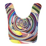 Spinning Colors Abstract Polyester Baby Bib