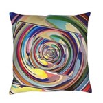 Spinning Colors Abstract Everyday Pillow