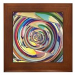 Spinning Colors Abstract Framed Tile