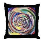 Spinning Colors Abstract Throw Pillow