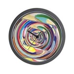 Spinning Colors Abstract Wall Clock