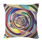 Spinning Colors Abstract Woven Throw Pillow