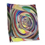 Spinning Colors Abstract Burlap Throw Pillow