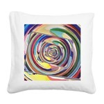 Spinning Colors Abstract Square Canvas Pillow