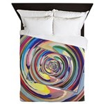 Spinning Colors Abstract Queen Duvet