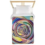 Spinning Colors Abstract Twin Duvet