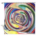 Spinning Colors Abstract Shower Curtain